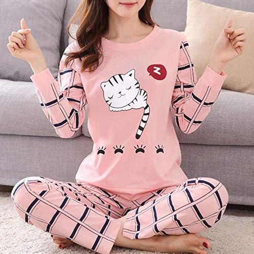 Women Pajamas Set Winter Pajamas for Women Thin Cartoon Pijamas Printed Pijama Women Long Sleeve Cute Sleepwear Casual 1