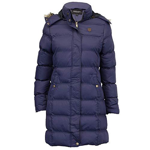 Womens Brave Soul Long Fur Trimmed Hooded Padded Puffer Parka Winter Jacket Coat 1