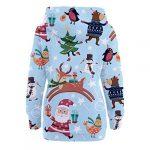Womens Christmas Pattern Print Long Sleeve Pullover Hoodie Jumper Sweater Sweatshirt Tops Blouse Xmas Gifts for Women 20