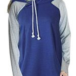 Aitos Womens Hoodies Long Sleeve Jumper Colorblock High Neck Sweatshirt Pullover Sweater Coat Pocket 27