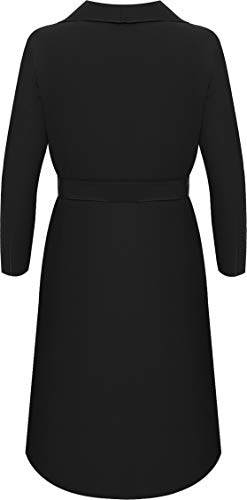Womens Long Belt Pocket Open Coat Ladies Celebrity Waterfall Jacket Cape 8-14 3