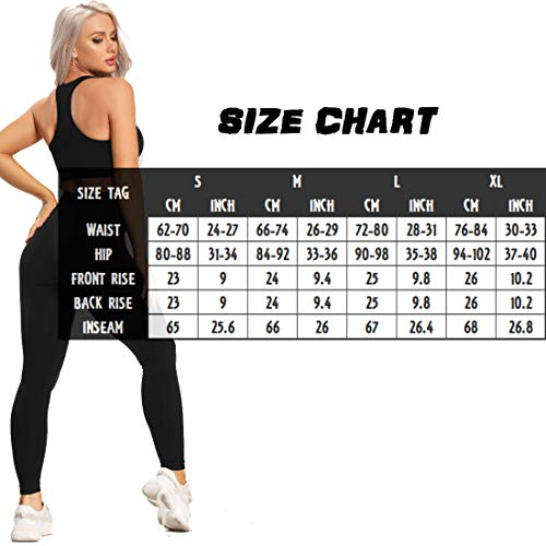 Women's Seamless High Waisted Gym Leggings Power Stretch Compression Running Workout Leggings 4