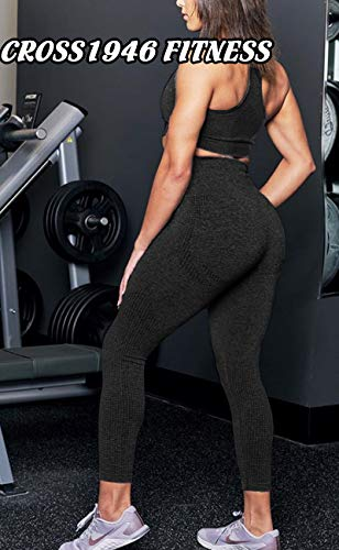 Women's Seamless High Waisted Gym Leggings Power Stretch Compression Running Workout Leggings 7