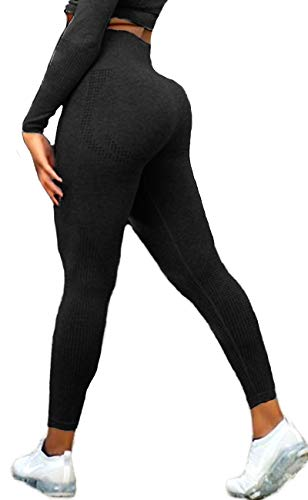 Women's Seamless High Waisted Gym Leggings Power Stretch Compression Running Workout Leggings 1