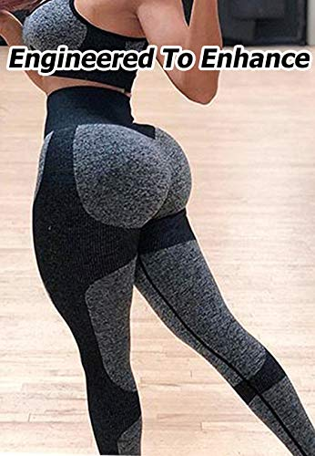 Women's Seamless High Waisted Gym Leggings Unique Design Power Stretch Yoga Pants Running Workout Leggings 5