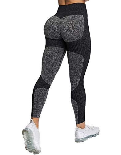 Women's Seamless High Waisted Gym Leggings Unique Design Power Stretch Yoga Pants Running Workout Leggings 1