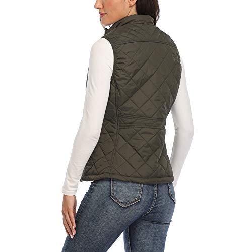 Women's Gilet Jacket Stand Collar Lightweight Quilted Zip Vest Bodywarmer Outdoor Gilet 3