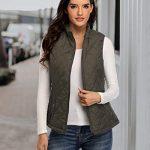 Women's Gilet Jacket Stand Collar Lightweight Quilted Zip Vest Bodywarmer Outdoor Gilet 21
