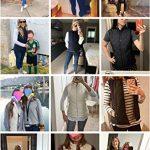 Women's Gilet Jacket Stand Collar Lightweight Quilted Zip Vest Bodywarmer Outdoor Gilet 22