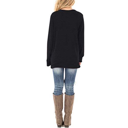 Xpenyo Women's Long Sleeve Tops Twisted Sweatshirt Loose T Shirt Blouses Tunic Tops 4