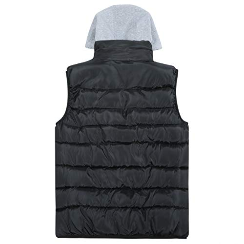 Mens Gilets Quilted Body Warmer Light-Weight Hooded Sleeveless Jacket Outdoor Waistcoats 3