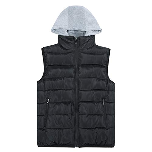 Mens Gilets Quilted Body Warmer Light-Weight Hooded Sleeveless Jacket Outdoor Waistcoats 5