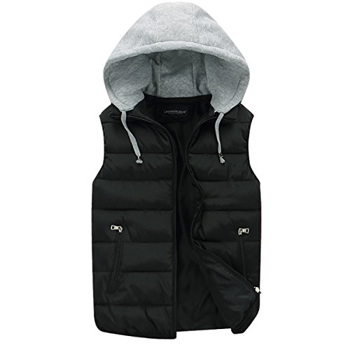 Mens Gilets Quilted Body Warmer Light-Weight Hooded Sleeveless Jacket Outdoor Waistcoats 1