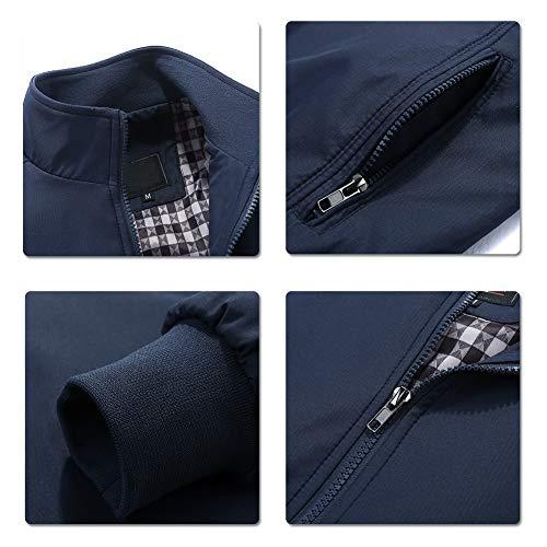 Mens Summer Bomber Jackets Casual Lightweight Windbreaker Sports Jacket Cargo Outwear 7