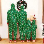 Yaffi Family Matching Pyjamas Christmas Festival Onesie One Piece Xmas Deer Snowman Printed Hooded Jumpsuit Sleepwear… 17