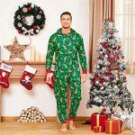 Yaffi Family Matching Pyjamas Christmas Festival Onesie One Piece Xmas Deer Snowman Printed Hooded Jumpsuit Sleepwear… 19