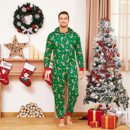 Yaffi Family Matching Pyjamas Christmas Festival Onesie One Piece Xmas Deer Snowman Printed Hooded Jumpsuit Sleepwear… 6