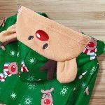 Yaffi Family Matching Pyjamas Christmas Festival Onesie One Piece Xmas Deer Snowman Printed Hooded Jumpsuit Sleepwear… 20