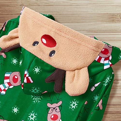 Yaffi Family Matching Pyjamas Christmas Festival Onesie One Piece Xmas Deer Snowman Printed Hooded Jumpsuit Sleepwear… 7