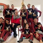 Yaffi Family Matching Pyjamas Set Festival Two Pieces Outfits Merry Christmas Elk Printed Top with Plaid Pants… 21