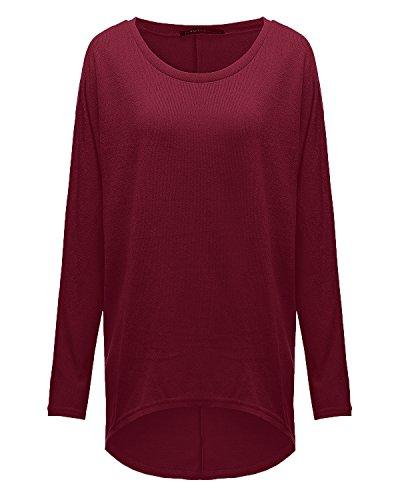 ZANZEA Women Baggy Loose Batwing Jumper Tops Long Sleeve Irregular Tunic T Shirt Blouse Casual Pullover Sweatshirt 5