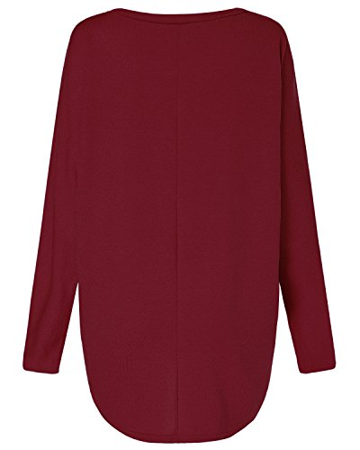 ZANZEA Women Baggy Loose Batwing Jumper Tops Long Sleeve Irregular Tunic T Shirt Blouse Casual Pullover Sweatshirt 6