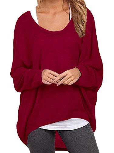 ZANZEA Women Baggy Loose Batwing Jumper Tops Long Sleeve Irregular Tunic T Shirt Blouse Casual Pullover Sweatshirt 1