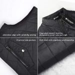 fuinloth Women's Quilted Gilet, Stand Collar Lightweight Zip Padded Vest 17