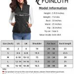 fuinloth Women's Quilted Gilet, Stand Collar Lightweight Zip Padded Vest 19