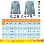 iChunhua Casual Women's Long Sleeve Crewneck T Shirt Sweatshirt Tops with Pockets S-XXL 10