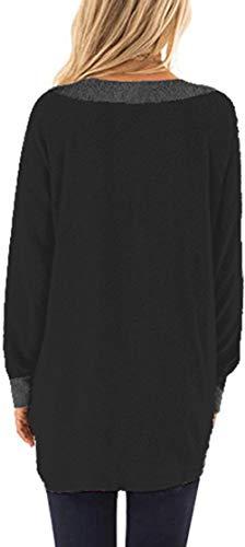 iChunhua Casual Women's Long Sleeve Crewneck T Shirt Sweatshirt Tops with Pockets S-XXL 4