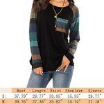 iChunhua Womens Casual Color Block Raglan Long Sleeve T-Shirt Blouses Tunic Tops 12
