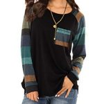 iChunhua Womens Casual Color Block Raglan Long Sleeve T-Shirt Blouses Tunic Tops 11