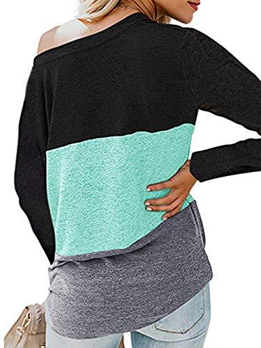 iChunhua Womens Cute Long Sleeve T Shirt Casual Blouse Tops Crewneck Sweatshirt 5