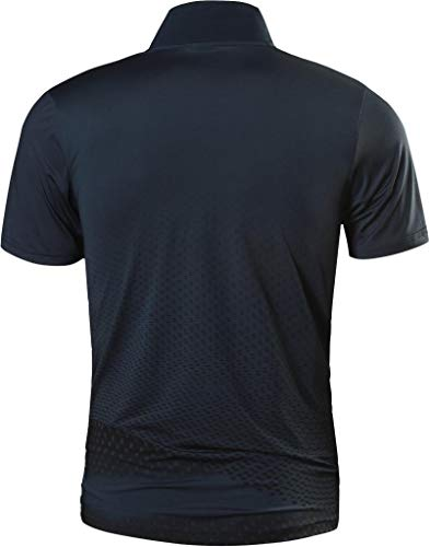 jeansian Men's Short Sleeve Quick Dry Polo T-Shirts Wicking Breathable Running Training Sports Tee Tops LSL195 3