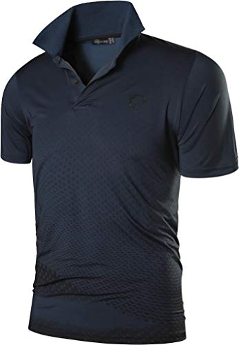 jeansian Men's Short Sleeve Quick Dry Polo T-Shirts Wicking Breathable Running Training Sports Tee Tops LSL195 4