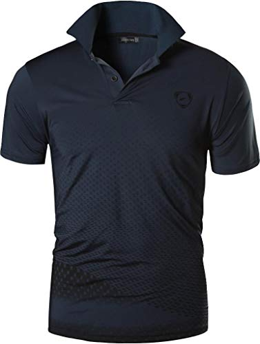 jeansian Men's Short Sleeve Quick Dry Polo T-Shirts Wicking Breathable Running Training Sports Tee Tops LSL195 1