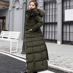 kisshes Women Ladies Long Padded Puffer Coat Winter Warm Cotton Quilted Jacket Parka with Removable Faux Fur Hood 16