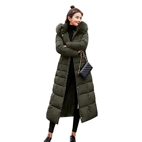 kisshes Women Ladies Long Padded Puffer Coat Winter Warm Cotton Quilted Jacket Parka with Removable Faux Fur Hood 1
