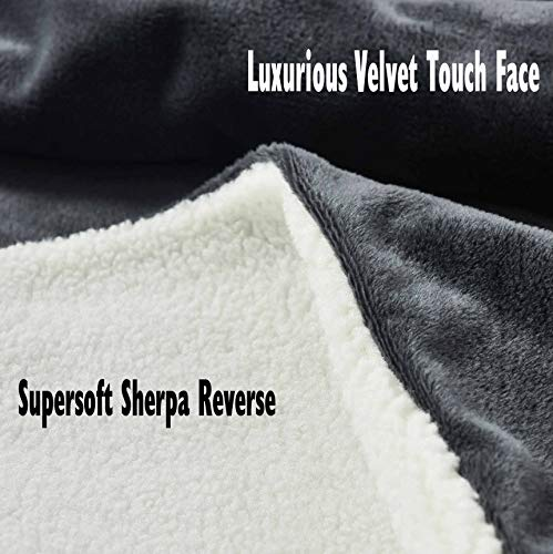 rejuvopdeic Deluxe Range Of Adult Hoodie Charcoal Blankets, Velvet Touch Fabric With Ultra Soft Sherpa Fleece lining… 6