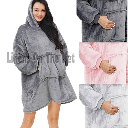 rejuvopdeic Deluxe Range Of Adult Hoodie Charcoal Blankets, Velvet Touch Fabric With Ultra Soft Sherpa Fleece lining… 1
