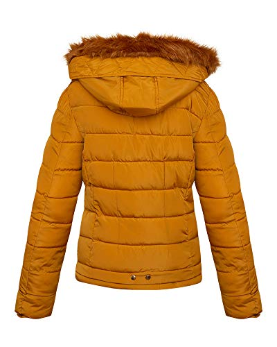shelikes Womens Jacket Quilted Winter Padded Coat 4