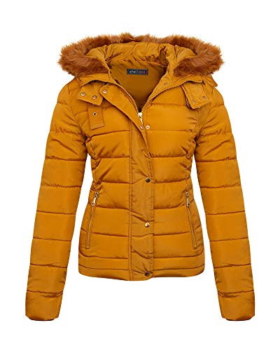 shelikes Womens Jacket Quilted Winter Padded Coat 1