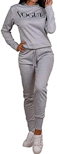 shelikes Womens Vogue Print 2 Piece Loungewear Tracksuit Ladies Top and Jogger Set Size 8-22 1