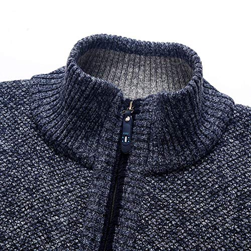 westAce Mens Zip Up Thick Fleece Lined Winter Knitted Cardigan Classic Jumper Cardigan 3