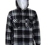 xpaccessories Mens Check Hooded Fleece Padded Jacket Tartan Pocket Winter Warm Shirt 13