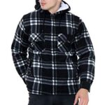 xpaccessories Mens Check Hooded Fleece Padded Jacket Tartan Pocket Winter Warm Shirt 11