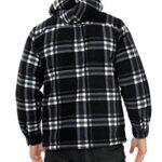 xpaccessories Mens Check Hooded Fleece Padded Jacket Tartan Pocket Winter Warm Shirt 14
