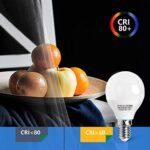 E14 Small Edison Screw Golf Ball Bulb, Aigostar G45 SES LED Light Bulbs 7W(43W Equivalent), 3000K Warm White E14 LED… 25