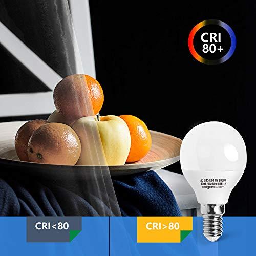 E14 Small Edison Screw Golf Ball Bulb, Aigostar G45 SES LED Light Bulbs 7W(43W Equivalent), 3000K Warm White E14 LED… 8